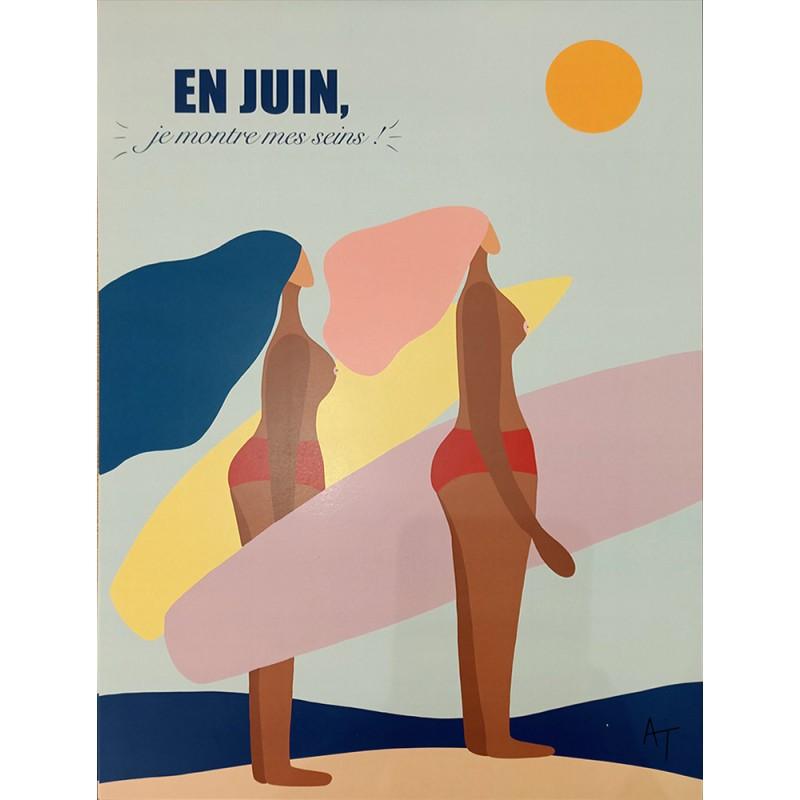 "Illustration "" En juin je montre mes se..s """