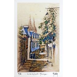 La Rue du Lycée, Quimper -...