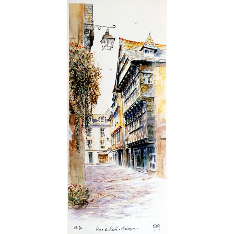 Tirage d'Art - La Rue du Sallé-Quimper - seul