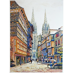 La Rue Kéréon, Quimper -...