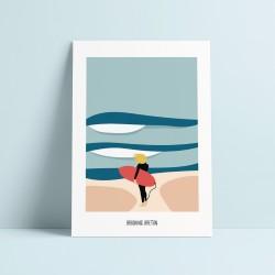 """ Brushing Breton "" - Affiche"