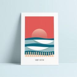 """ Sunset Breton "" - Affiche"