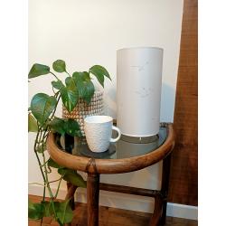 Colonne lumineuse blanche, diamètre 15cm et hauteur 25cm éteinte