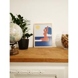 Affiche - La Belle Vie - cadre bois