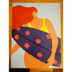 Affiche - Surfer avec style - seul