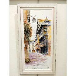 Tirage d'Art - La Rue du Sallé-Quimper - cadre Alba20
