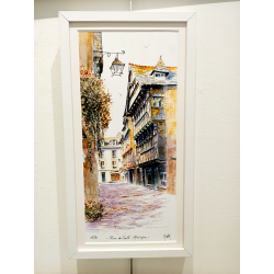 Tirage d'Art - La Rue du Sallé-Quimper - cadre Cali