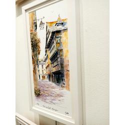 Tirage d'Art - La Rue du Sallé-Quimper - cadre Cali Zoom