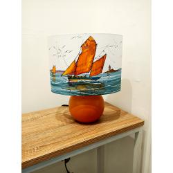 Ovale25 bateau trois mat et pied boule orange - éteint