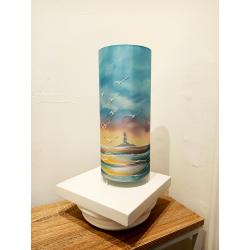 Colonne 36 - décor mer, phare et ciel coloré - éteint