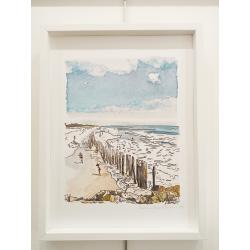Cottrais - Mousterlin, plage de cleut rouz - cadre blanc
