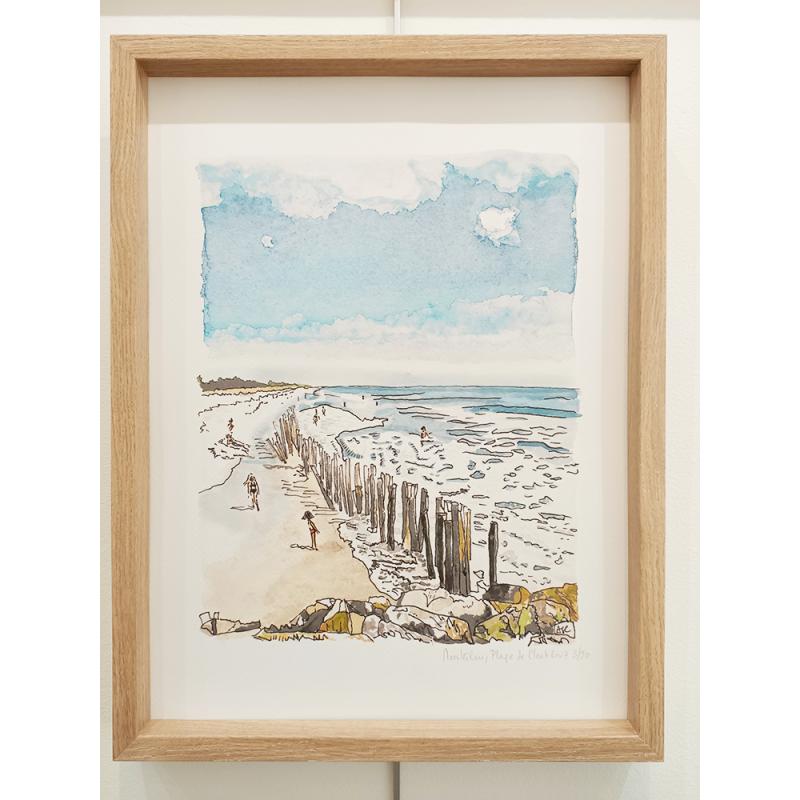 Cottrais - Mousterlin, plage de cleut rouz - cadre chène