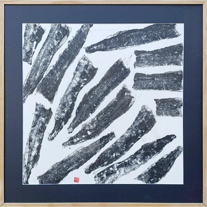 "Gyotaku "" Peaux de brochets """